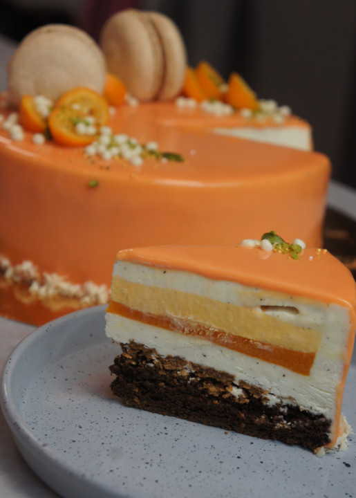 Sea buckthorn mousse cake master class